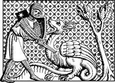 knight slaying dragon   clipart1 / Knight Slaying Dragon