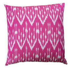 Kamile Pillow in fuchsia, this could work as a closeup with the crest necklaces lined up to match the geometric pattern