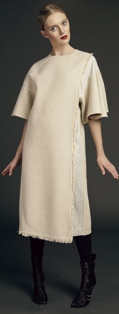 DE LA RAVE | Fall 2015 Fabulous Dresses, Taupe, Vanilla, Runway, Vogue, Tunic Tops, Style Inspiration, Cream, Stylish