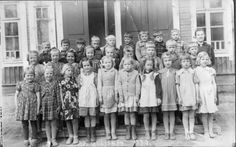 LK first grade class picture in the 1950s, she is the fifth from left in the first row :)))