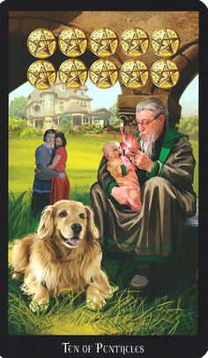 Focus Card: Ten of Pentacles Divinatory meaning Upright - Emotional and financial stability. Family fortunes, inheritance and prosperity that has…