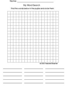 Modest image with blank word search printable