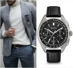 Don't miss out on a chance to wear this special edition Moon Chronograph watch by Bulova!