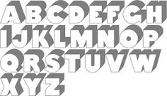 cool 3d fonts to draw - Google Search