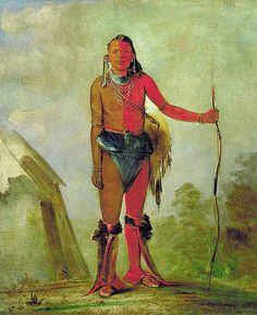 Native American George Catlin Aih-no-wa, The Fire, a Fox Medicine Man, via Flickr.