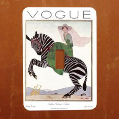 Vogue January 1926 -- Vintage Art Deco 1920s Magazine Cover Light Switch Cover -- Oversized (Multiple Styles)