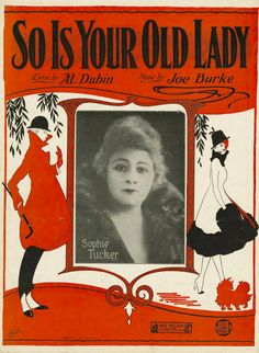 So is Your Old Lady -1926 - Original Sheet Music - No Chord Names - Uke