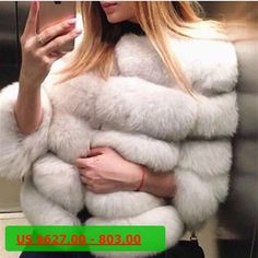BFFUR Women Natural Fox Fur Coat Womens Whole Skin Genuine Fox Fur Overcoat Jacket Short Real Fox Fur Outerwear BF-C0011
