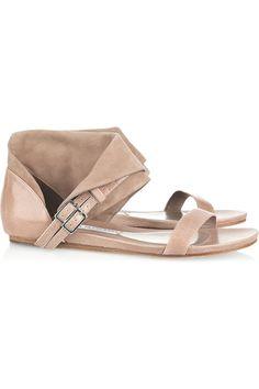 Camilla Skovgaard cracked leather and suede sandals