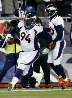 In-Game Photos: Broncos at Patriots - Knighton gets to try running for a TD after recovering a fumble... he didn't make it.
