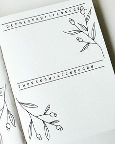 Here is a nice, simple bullet journal spread from Instagram.