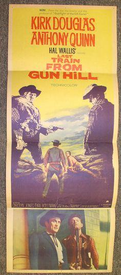 """Last Train From Gun Hill ~ Original 1959 36"""" X 14"""" Movie Poster ~ Kirk Douglas"""