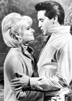 """Elvis and  Diane McBain starred  in """"Spinout"""" 1966."""