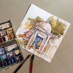 "84 Likes, 6 Comments - Lakshman Kabadi (@kabadiart) on Instagram: ""My Plein air painting. 25.4.17. #art_spotlight #artpeople_gallery #sketch  #pencil #contemporary…"""