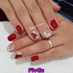 Image may contain: one or more people and closeup Cute Nails, Pretty Nails, Hair And Nails, My Nails, Cherry Nail Art, Fall Nail Art, Stylish Nails, Nagel Gel, Nail Art Hacks