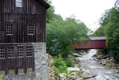McConnell's Mill State Park, Slippery Rock, PA.  We have visited here many times in our life.  Working grist mill and covered bridge and many walking trails.  But be careful in Slippery Rock Creek, very, oh you know, slippery and treacherous.