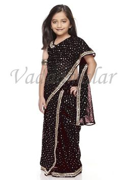 Little Girls Children kids Saree ready to wear sarees & choli ready made India costume