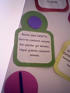 Kızımın öğretmeni çocuklarımızın derslerdeki performansını arttırmak için noktalama işaretlerini öyle farkı bir yöntemle sınıfta sunmuş ki d... Math For Kids, Diy For Kids, Turkish Lessons, Turkish Language, Grade 1, Classroom, Science, Education, School
