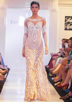Embroidered Mosaic Evening Gown-Zuhair Murad Spring 2014