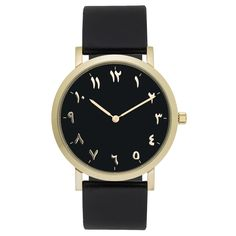 Find More Women's Watches Information about Gold Arabic Watch Black Genuine Leather Strap,High Quality Women's Watches from Perfect time. Perfect life on Aliexpress.com