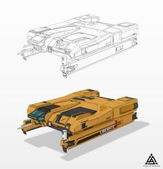 ArtStation - Space Transporter, Theodore Zheng