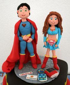 Superheroes made of fondant