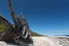 "Shipwreck ""Swiks"" from 1926 at Trollskogan, Öland"