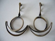 Earrings | Art Smith.  Sterling silver.  ca. 1950