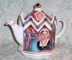 Queen Victoria teapot  available at Roses and Teacups    http://roses-and-teacups.com/collectible-teapots.php James Sadler Collectible English Teapot Collectable Novelty Teapots Tea Pot