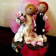 cake topper bois figurines
