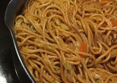 Kínai sült tészta | Tomikaa98 receptje - Cookpad receptek Recipes From Heaven, Recipies, Spaghetti, Food And Drink, Vegetarian, Vegan, Ethnic Recipes, Fit, Salads