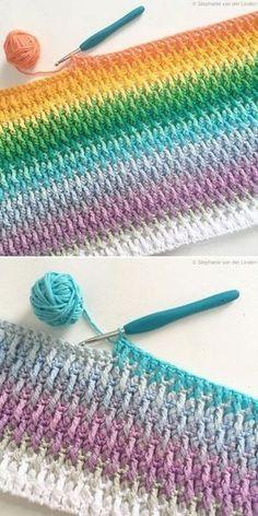 Crochet Ball, Free Crochet, Knit Crochet, Crotchet, Crochet Quilt, Crochet Afghans, Crochet Squares, Crochet Stitches Patterns, Crochet Designs