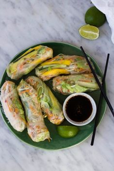 Spring Rolls, Vegan Lifestyle, Fresh Rolls, Food Dishes, Foodies, Vegetarian Recipes, Brunch, Food And Drink, Mango