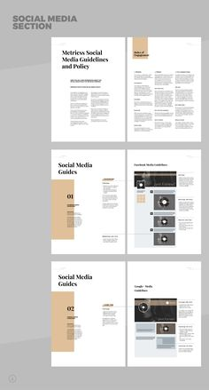 Brand Manual and Identity Template – Corporate Design Brochure – with real text!Minimal and Professional Brand Manual and Identity Brochure template for creative businesses, created in Adobe InDesign in International DIN and US Letter size. Graphic Design Books, Graphic Design Layouts, Book Design Layout, Web Design, Design Posters, Brochure Layout, Brochure Design, Brochure Template, Branding Design