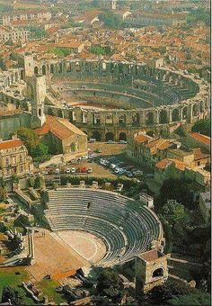 Roman Arenas, Arles, France ~ Some of the best preserved architecture of the Roman Empire in the world.Roman Arenas, Arles, France ~ Some of the best preserved architecture of the Roman Empire in the world. Places To See, Places To Travel, Empire Romain, Ville France, Roman History, European History, Provence France, Ancient Architecture, Roman Architecture
