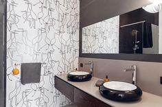 16 Apartment in Gdańsk//Formativ. Double Vanity, Mirror, Interior Design, Bathroom, House, Inspiration, Furniture, Home Decor, Poland