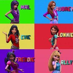 Disney Descendants Characters, Descendants Wicked World, Disney Channel Descendants, Female Characters, Live Action Movie, Action Movies, China Anne Mcclain, Disney Theory, Cameron Boyce