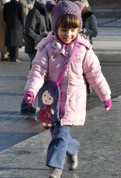 Sweet dolly-purse for girls bag doll by NinuMiluBagDolls on Etsy