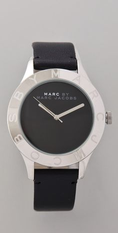 Marc by Marc Jacobs. Blade Etched Logo Watch. $175