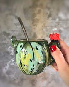 Cactus y suculentas Deco Cactus, Cactus Decor, Ceramic Clay, Ceramic Plates, Pottery Handbuilding, Plant Art, Pottery Designs, Pottery Painting, Hand Painted Ceramics