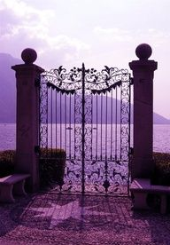 Purple sunset at the gate