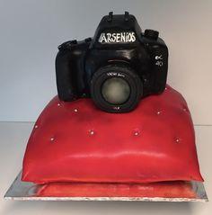 Cake, Camera, Torte, Kamera, Spiegelreflex, Kissen