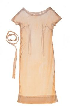 Lot 276: An Pucci dress of off-white silk jersey with wide scoop and cap sleeves with a matching belt. From the personal property of Marilyn Monroe.