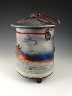 Ceramic Raku Cremation Urns   ... raku-style-urn. #urn #raku #japan #handmade #temple #cremation #ocean