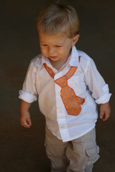 Tie applique on a button up dress...this version of the neck tie is so stinkin' cute!