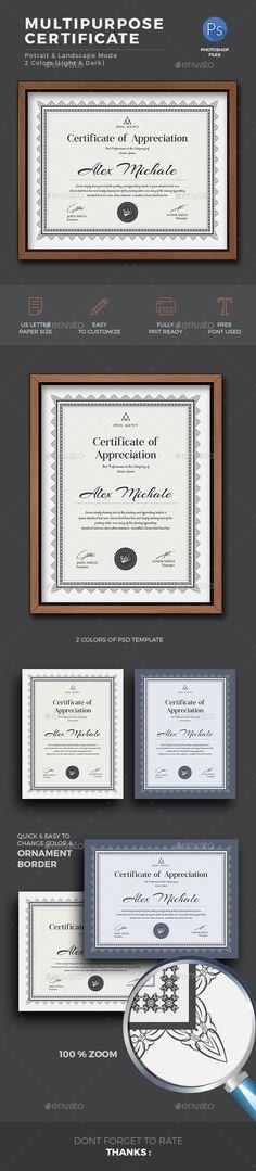 Multipurpose Certificate Word Template, DIY Certificate Template - certificate template software