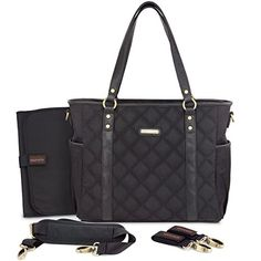This timi & leslie Quilted Tote Diaper Bag is super stylish & VEGAN
