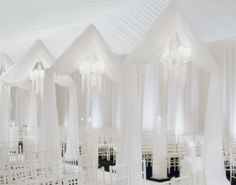 All white ceremony. The amazing David Tutera.