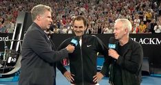 Will Ferrell Interrupts Roger Federer Interview, Goes Full Ron Burgundy | HuffPost