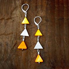 Mother of Pearl Shell Earrings Summer Jewelry Bright Colors